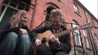 Heyday on the stoop of No 4 - Glen and Marketa