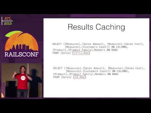 RailsConf 2015 - Data Warehouses and Multi-Dimensional Data Analysis