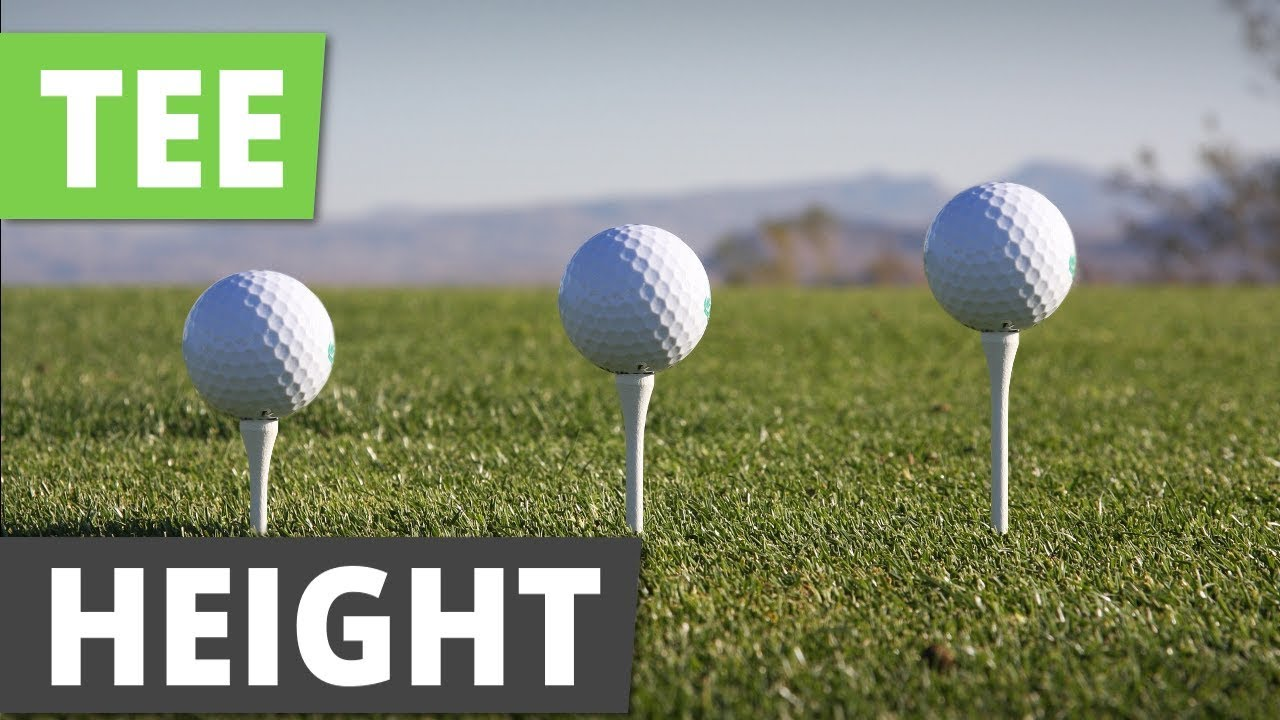 How To Tee Up A Golf Ball Best Tee Height For Driver Youtube