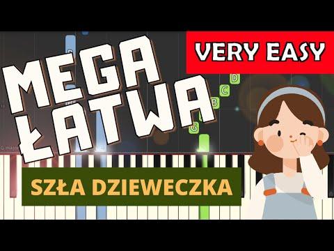 🎹 Szła dzieweczka - Piano Tutorial (MEGA ŁATWA wersja) 🎹