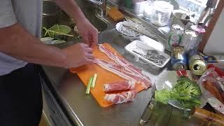 幸運な病のレシピ( 420 )朝:弁当セット、アスパラ肉巻きエビ醤油味、煮しめ thumbnail