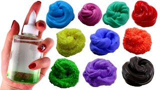10 SLIMEURI DINTR-UN LIPICI - 10 DIY Making Small Slime
