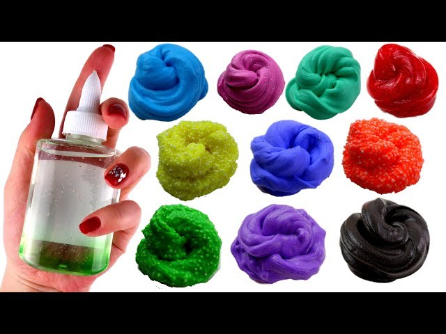10 SLIMEURI DINTR-UN LIPICI - 10 DIY Making Small Slime