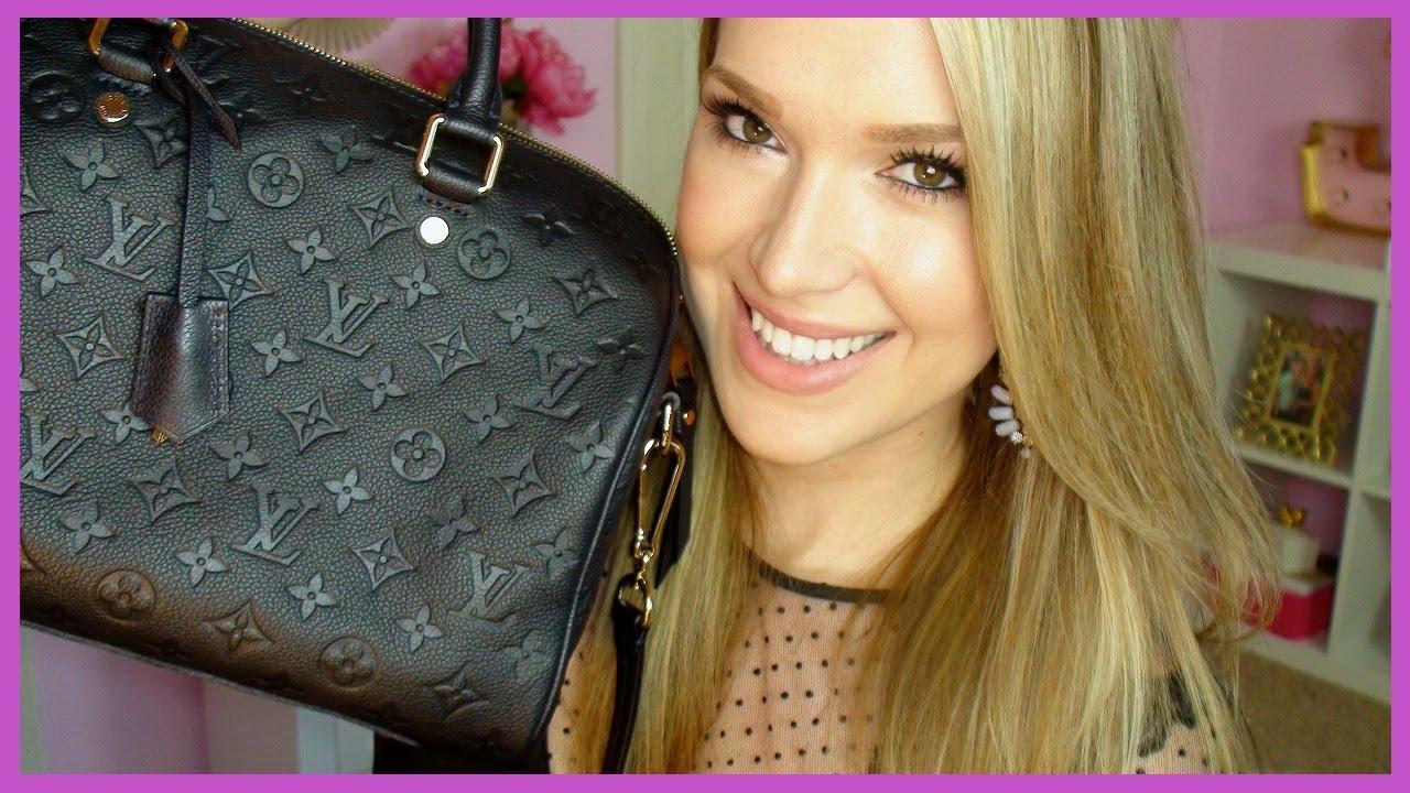 5ce43ca4cf78 What s In My Bag ! Louis Vuitton Bandouliere Speedy 30 Monogram ...