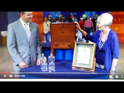 ( Antiques Roadshow ) Virginia Walnut Bottle Case, ca. 1835   Web Appraisal   Baton Rouge
