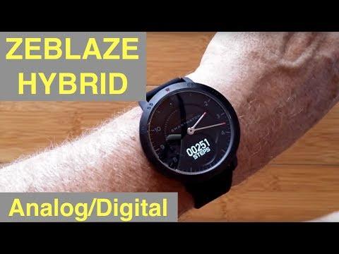 ZEBLAZE Hybrid Analog/Digital 5ATM Waterproof Blood Pressure Dress Smartwatch: Unboxing & 1st Look