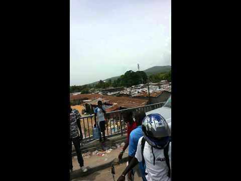 Haiti traffic jam on a bridge