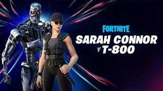 Sarah Connor y T-800 llegan a través del Punto cero