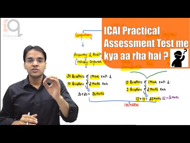 ICAI's Practical Assessment Tests - FAQs on Structure and Marking Scheme