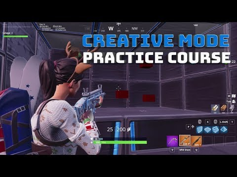 Creative Mode Aim And Edit Practice Course! - Fortnite Battle Royale!