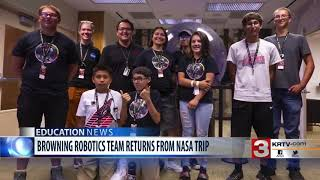Browning students win science-themed trip in NASA competition