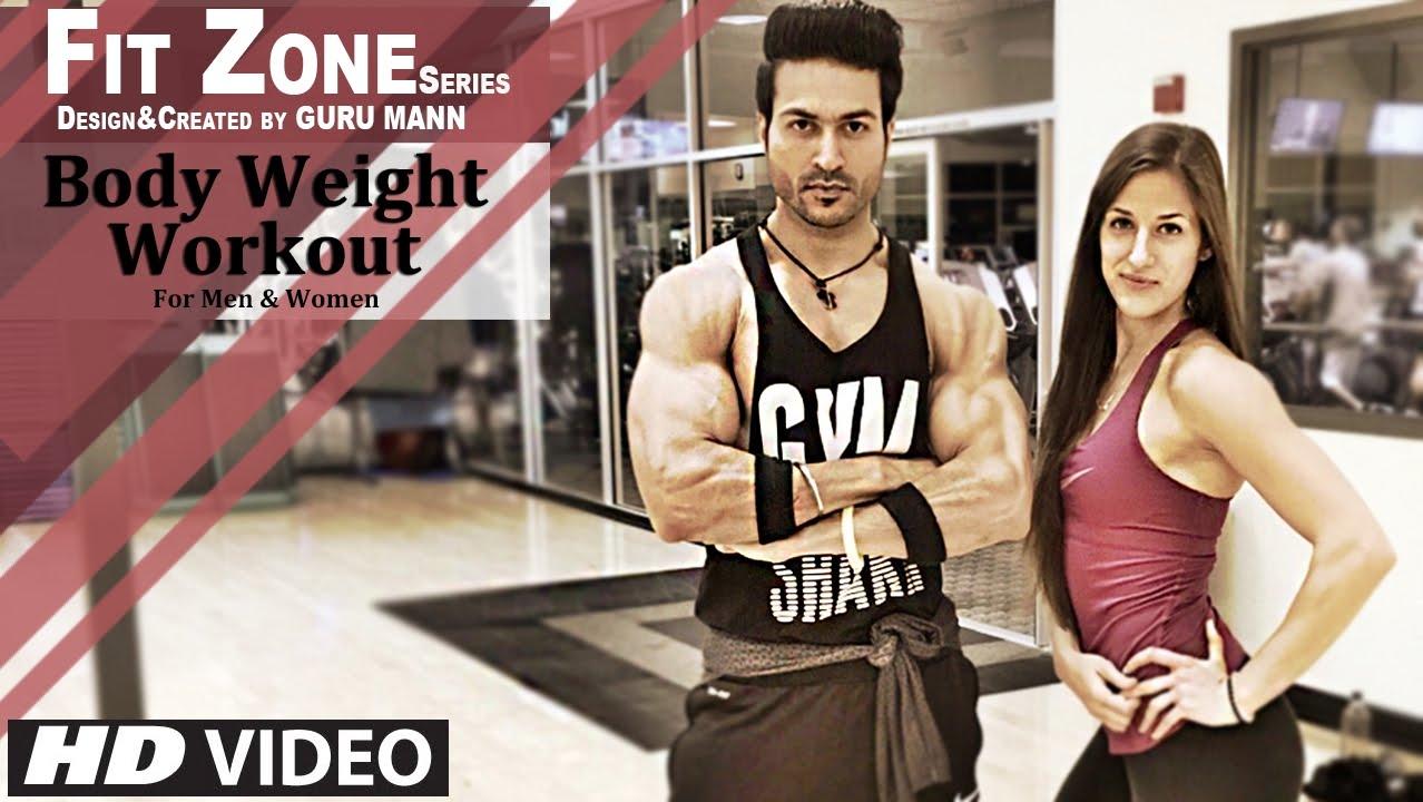 Workout Calendar By Guru Mann : Fit zone level bodyweight workout for men women by