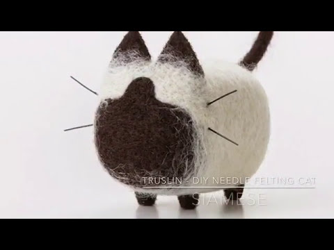 How to needle felt a cat - Siamese