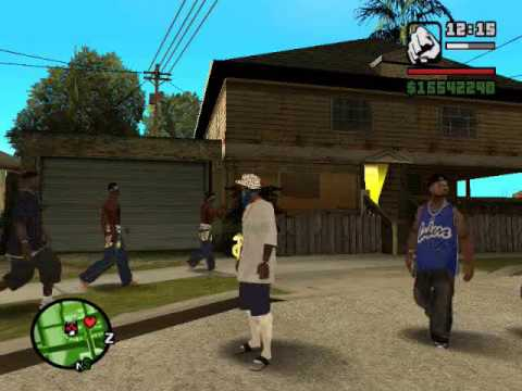 gta san andreas crips vs bloods vs latin kings Video