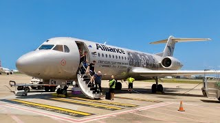 Onboard The Rare Fokker 70 - Alliance Airlines Trip Report From Port Macquarie To Brisbane  4k