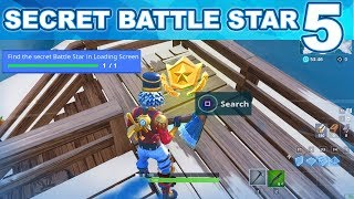 WEEK 5 Find the Secret Battle Star in Loading Screen #5 Fortnite - SNOWFALL CHALLENGES SEASON 7