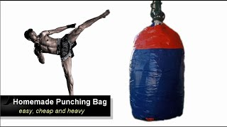 Homemade Punching Bag | easy, cheap and heavy