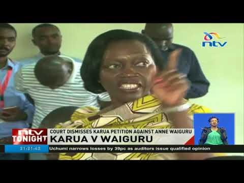 Martha Karua petition against Anne Waiguru struck out