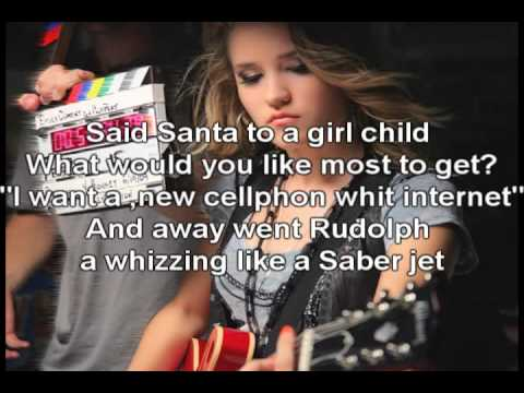 Emily Osment Run,Rudolph,Run Lyrics.avi