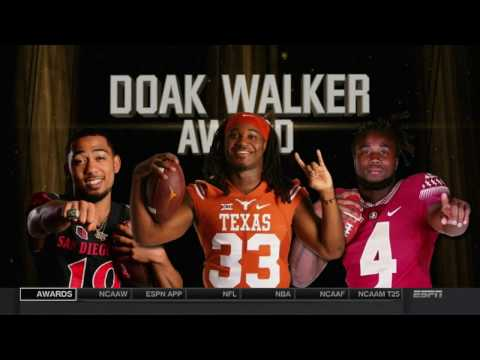SDSU FOOTBALL: COLLEGE FOOTBALL AWARDS SHOW - DOAK WALKER AWARD - 12/8/16