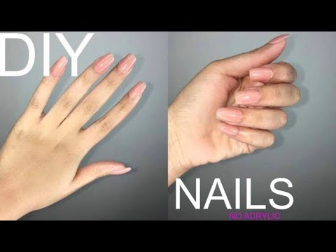 DIY|| fake nails made of paper 😍|| no acrylic only paper