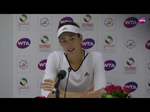 2018 Dubai press conference: Garbiñe Muguruza proud of her performance against Garcia