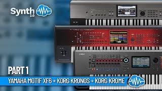 Yamaha Motif Xf6 performed by S4K - Part 1 + korg Kronos + Krome ( Space4Keys Keyboard Solo )