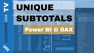 كيفية إنشاء فريدة من نوعها المجاميع الفرعية في السلطة BI الجداول باستخدام DAX