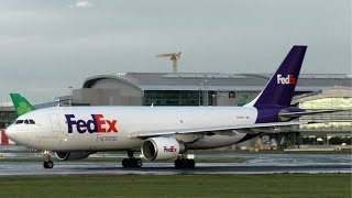 FedEx Airbus A300 Screaming Take Off at Dublin Airport