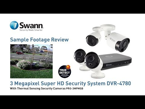Swann 3MP SWDVK-847804D 2TB CCTV Kit with 4x SWPRO-3MPMSD Dome Cameras video