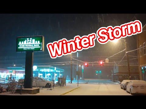 Winter Storm in Harlan Kentucky