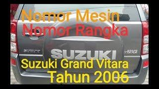 Макет номер двигуна номер шасі автомобіля Сузукі Гранд Вітара 2006