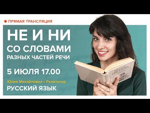 Русский язык   НЕ и НИ со словами разных частей речи