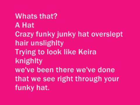 Crazy Funky Hat Lyrics with song*
