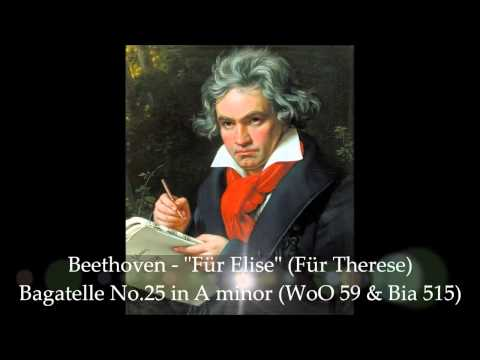 Beethoven - Für Elise, Bagatelle No.25 in A minor (Para Elisa) - HD Classical Piano Music