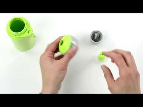 verschillende kleuren nieuwste collectie ongelooflijke prijzen Mepal pop-up drinkfles Campus - YouTube