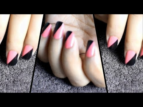 nail art for beginners/ nail art with cello tape ( hindi, urdu)