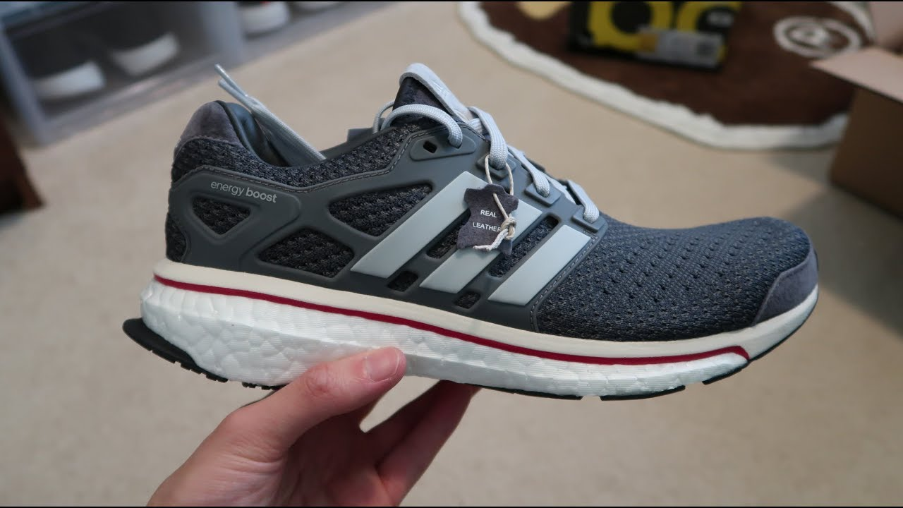 new product f55ef 1fe32 Adidas Energy Boost Run Thru Time Sneaker Unboxing