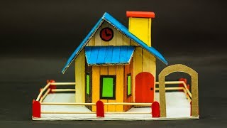 How To Make Simple Popsicle Sticks House
