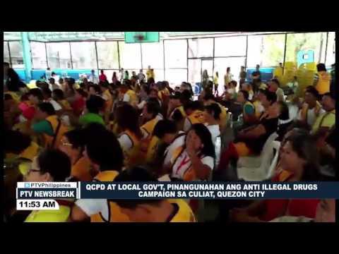 NEWS BREAK: QCPD at QC gov't, pinangunahan ang Anti-illegal Drugs Campaign sa Culiat, Quezon City