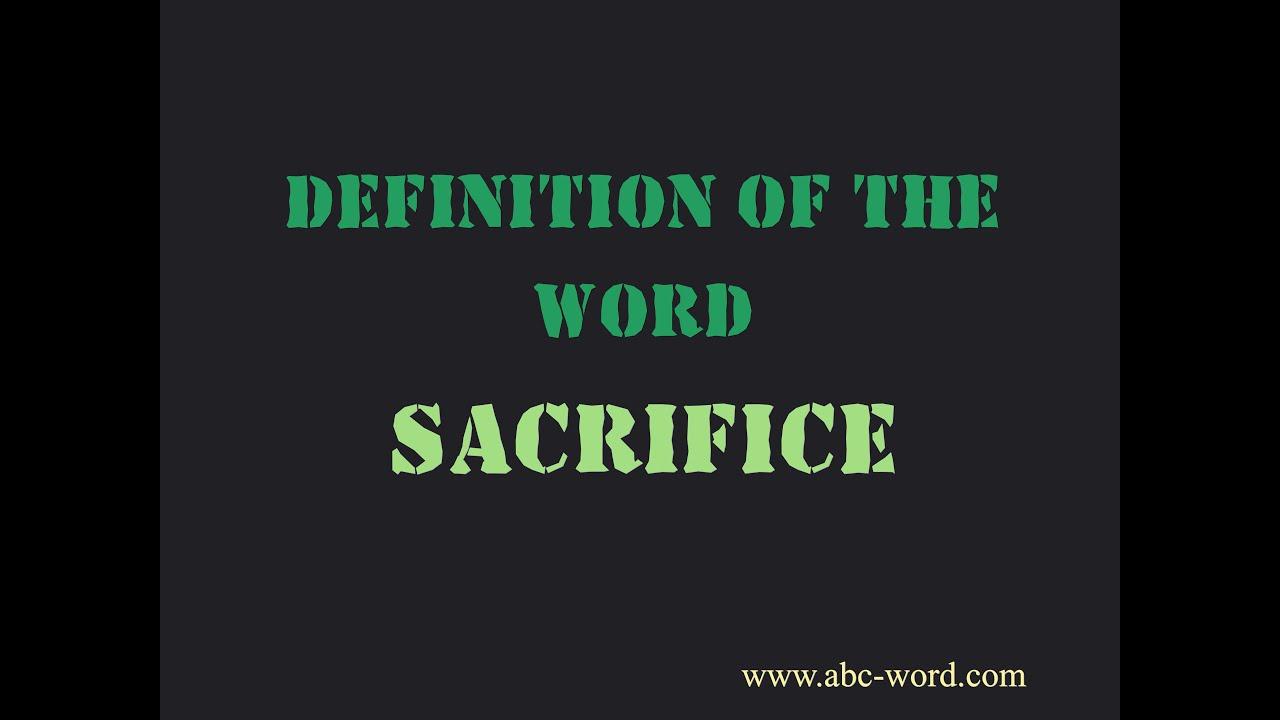 sacrify definition