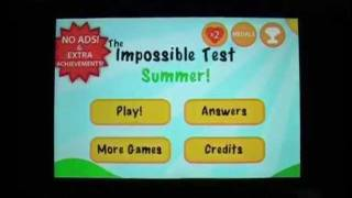 The Impossible Test Summer Walkthrough