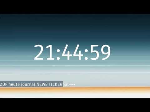  Selfmade: ZDF heute journal Uhr, NEWS Ticker und Intro [2014]