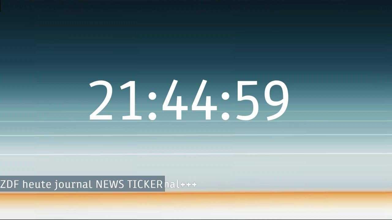 Zdf Nachrichten Live