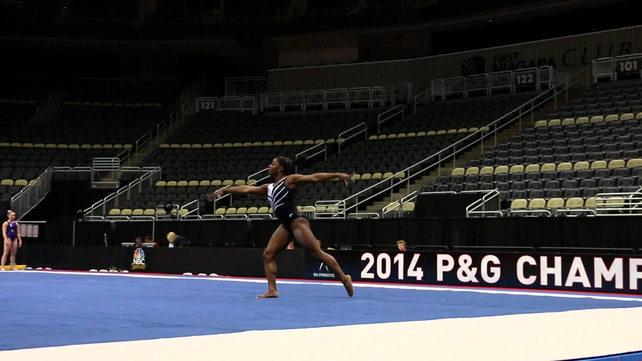 Simone Biles Floor Routine Podium Training PG Championships
