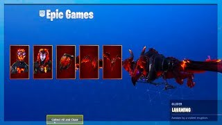 NEW *Lava Lengends* Skins! In Game Gameplay! (Fortnite Battle Royale)