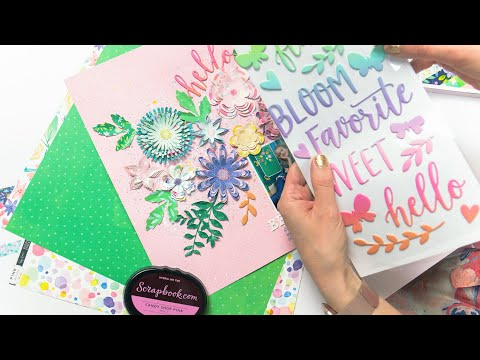 Easy 3D Flowers To Give Your Scrapbook Page A Pop! | Paige Evans For Pink Paislee