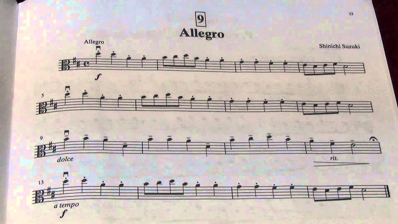 Suzuki Viola Book  Allegretto