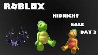 Roblox Midnight Sale 2019 (Day Three) I All Items I BIG OOF