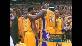 Kobe Memories: KB to Shaq Alley Oop WCF 2000 NBA Game 7 Blazers vs Lakers Video